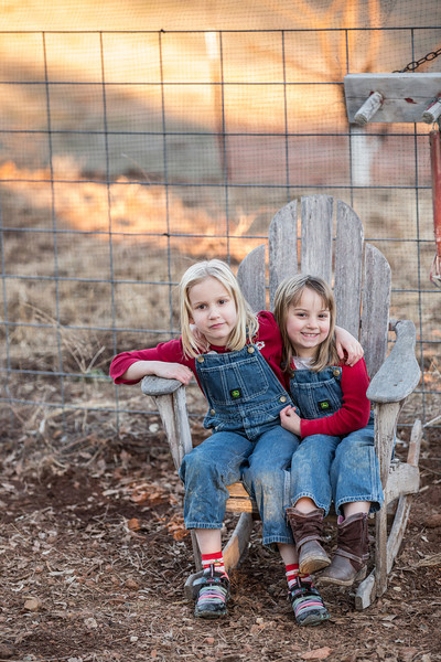 Sally's girls at the farm