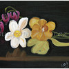 Flowers on a Table - Oil On Canvas