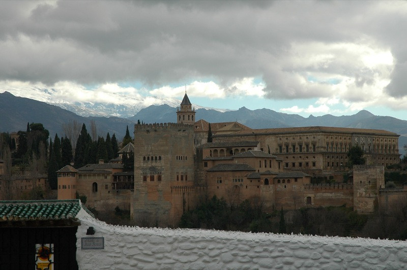 Aerial View of the Alhambra - Granada, Spain