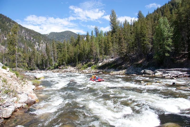 Running Sulphur Slide rapid at moderate flows (4.5 feet)