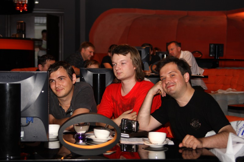 Shpil and Shpiller guys on Softprom Gamescom afterparty 2009