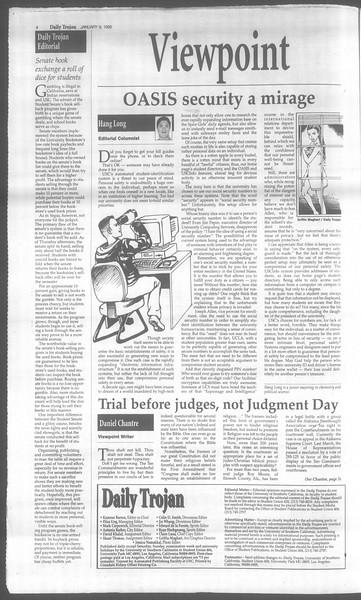 Daily Trojan, Vol. 133, No. 2, January 09, 1998