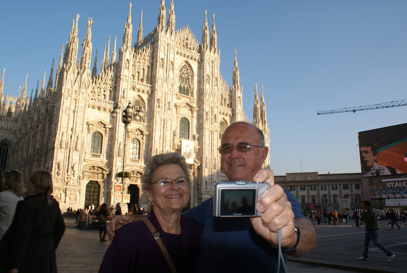 Milan, Italy.  Duomo Cathedral is the most impressive in Europe.