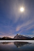 """""""Orion, Rundle and Moon"""", Vermilion Lakes, Banff National Park, Alberta, Canada."""