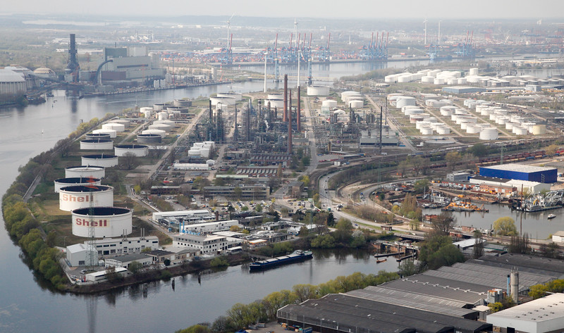 Öltanklager Hamburg Shell Luftbild