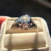 .80ct Vintage Old European Cut Diamond Dome Ring 9