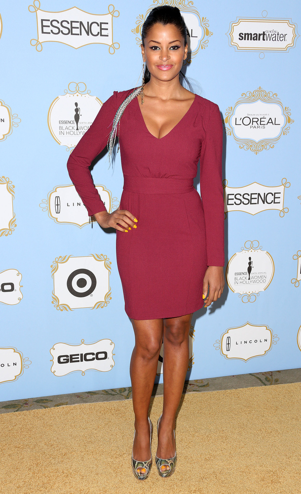 . Actress Claudia Jordan attends the Sixth Annual ESSENCE Black Women In Hollywood Awards Luncheon at the Beverly Hills Hotel on February 21, 2013 in Beverly Hills, California.  (Photo by Frederick M. Brown/Getty Images)