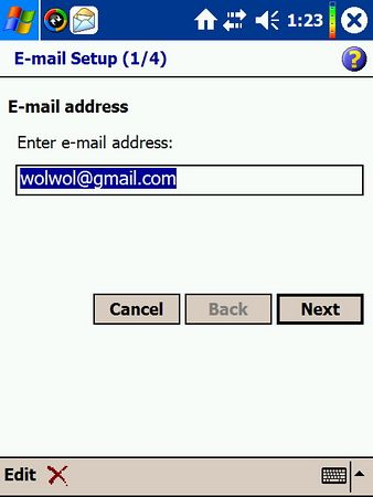 gmail setting on PocketPC