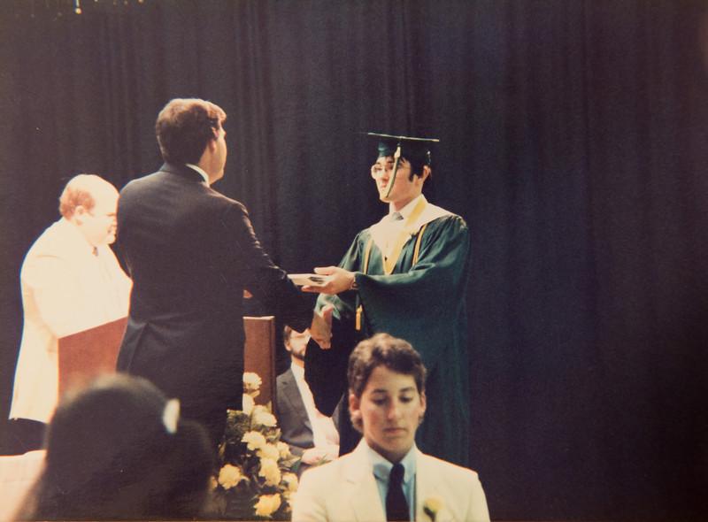 My graduation, May, 1986.