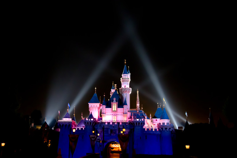 Sleeping Beauty's Castle After the Fireworks