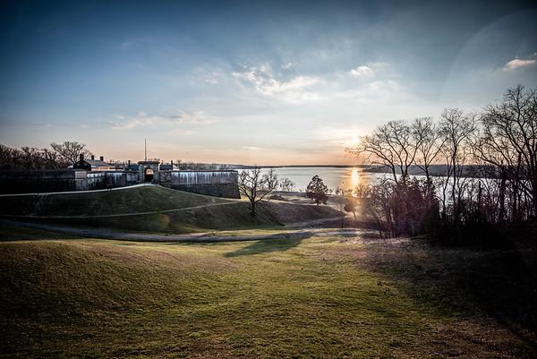 fort washington sunset