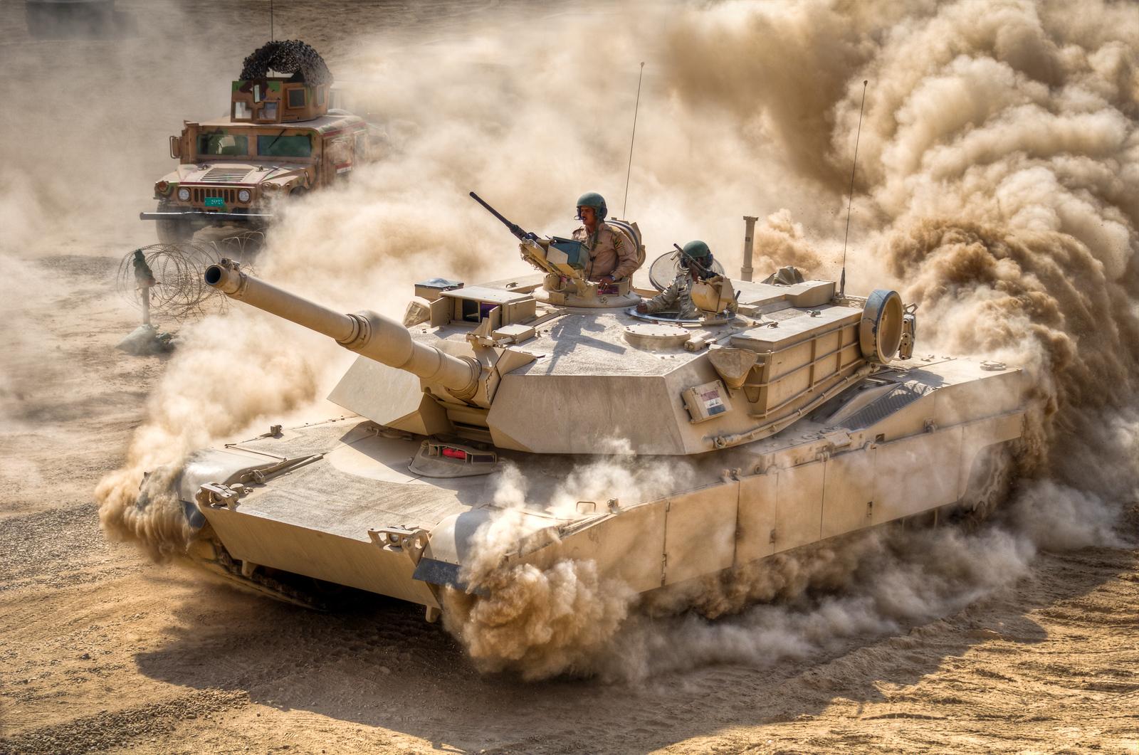 18 OCT 2011 -  Iraqi leadership host OSC-I Chief and NTM-I Commander LTG Caslen for Howitzer and M1A1 tank demonstrations in Besmaya, Iraq. U.S. Army photo by John D. Helms - john.helms@iraq.centcom.mil.