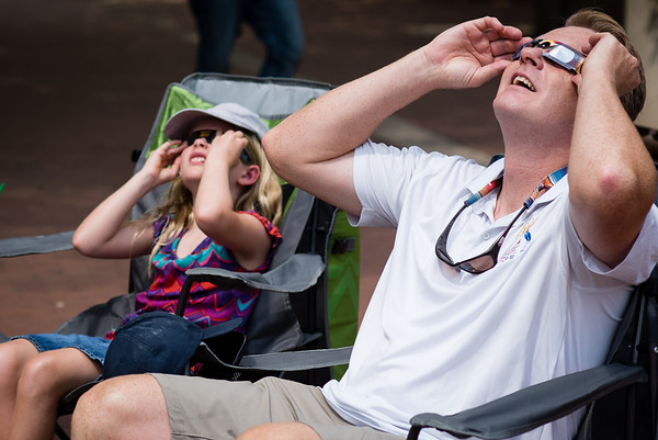 Eclipse Viewing at Lake Anne