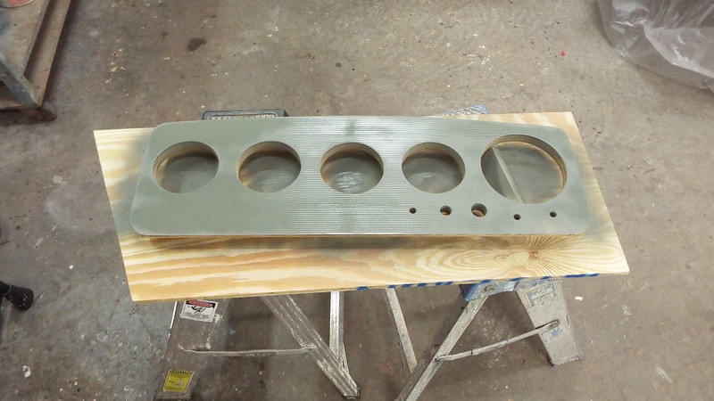 Priming the new instrument panel.