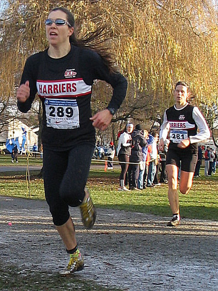 2005 Canadian XC Championships - Meghan caught Cheryl on the line and they called it a tie