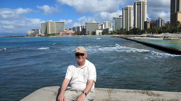 Waikiki Beach and Outrigger Hotel Reconstruction March 2012