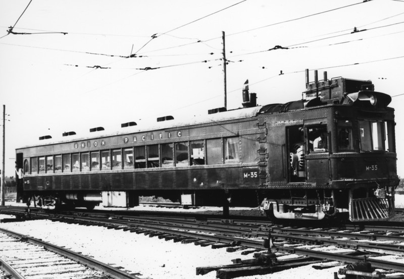 UP EMC Car M-35. Illinois Railroad Museum, Uinion, Illinois. September 27, 1987. (Don Christensen Photo)