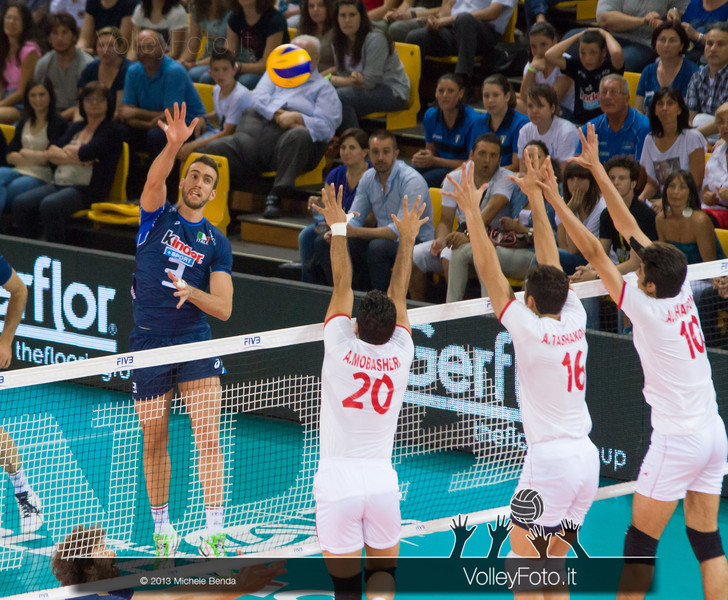 Simone Parodi [ITA] attacco - Italia-Iran, World League 2013 - Modena