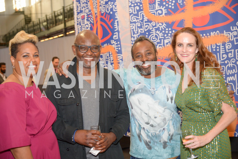 Jessica Stafford-Davis, Victor Ekpuk, Sheldon Scott, Kate Goodall, By The People, Arts Festival, Smithsonian Arts and Industries Building, June 14th, 2019.  Photo by Ben Droz.