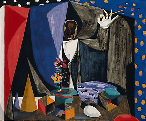 "Jacob Lawrence, ""Magic Man,"" 1958"