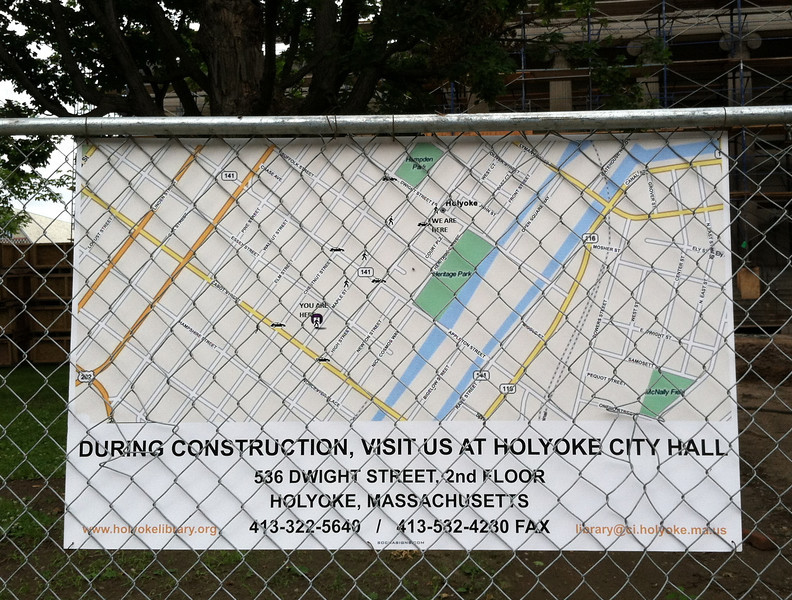 Sign at the construction site