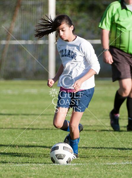 2011-01-27 Soccer 8th Girl Village School @ SJS