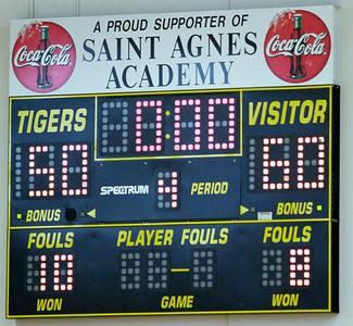 Westbury Christian Lady Wildcats vs. St. Agnes 1-10-09