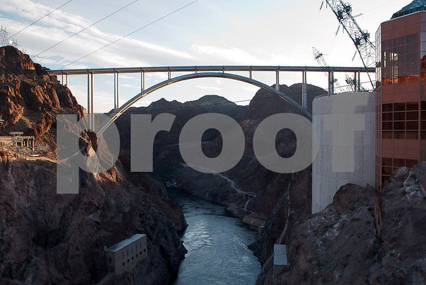 Hoover Dam and the Pat Tillman Memorial Bridge