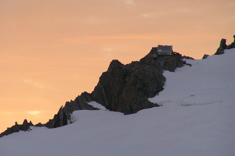 Kelman Hut on sunrise