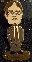 Dwight Schrute Bobblehead Pin