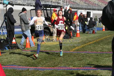 Post Race/Chute, D3 Girls - 2014 MHSAA LP XC Finals