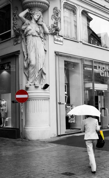 a pair of umbrellas