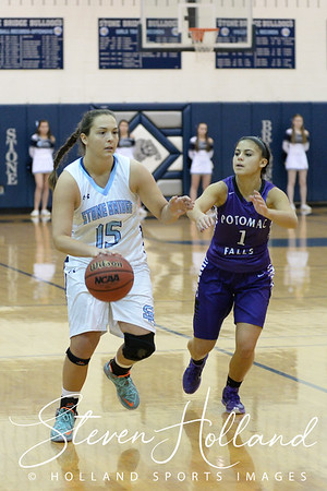Girls Basketball - Varsity: Stone Bridge vs Potomac Falls + Senior Night 2.5.2016 (by Steven Holland)