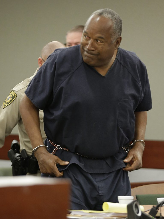 ". <p><b> Hall of famer O.J. Simpson has filed another appeal of his 2007 armed robbery conviction, claiming his trial was tainted by � </b> <p> A. His notoriety from his 1994 double murder trial <p> B. Improper jury screening <p> C. Prejudice against lard-asses <p><b><a href=\' http://espn.go.com/nfl/story/_/id/10969525/oj-simpson-submits-new-appeal-las-vegas-robbery-conviction\' target=""_blank\"">LINK</a></b> <p>    (AP Photo/Julie Jacobson, Pool)"