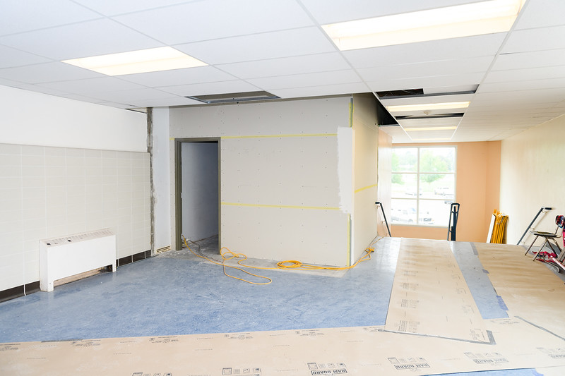 New storage room under construction in McNary High School on Friday, August 16, 2019, in Keizer, Ore.