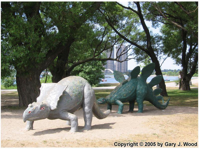 Dinosaurs roam the Western beaches