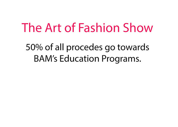 BAM's The Art of Fashion Show