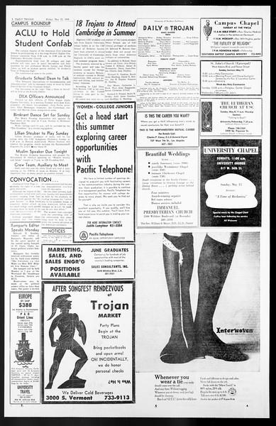 Daily Trojan, Vol. 57, No. 119, May 13, 1966