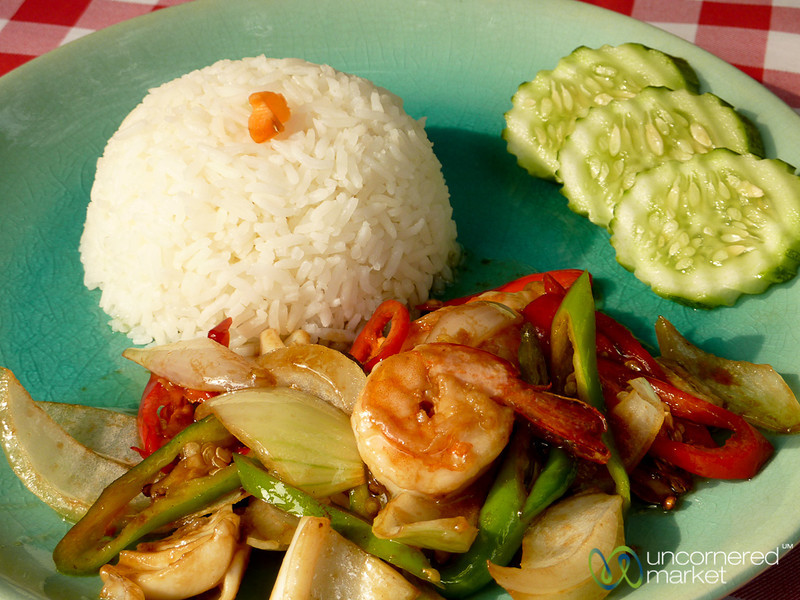Stir-Fried Shrimp and Veggies - Koh Samui, Thailand