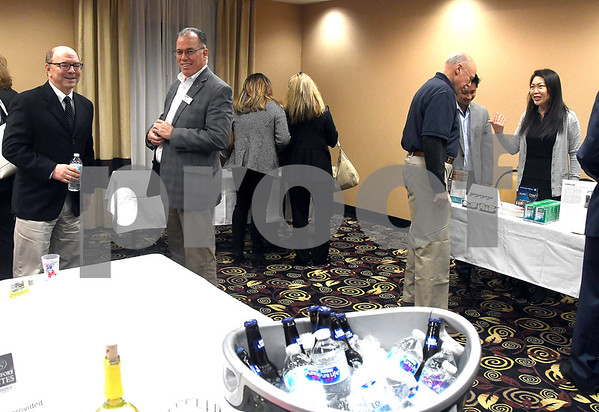 11/29/2017 Mike Orazzi | Staff A meet and greet during the Southington Chamber of Commerce New Member Showcase held at Comfort Suites Southington Wednesday evening.