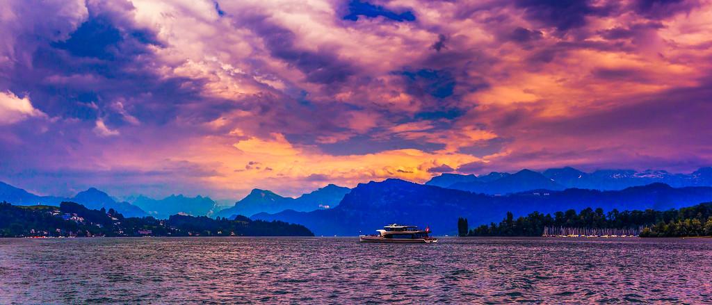 瑞士卢塞恩(Lucerne),晚霞记忆