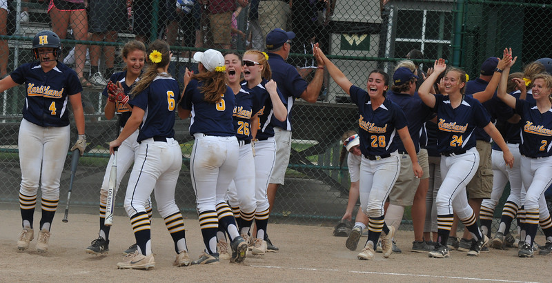 The Clarkston Wolves lost the D1 Quarterfinal game to Hartland 3-2  The game was played on Tuesday June 12, 2018 at Wayne State University.  (Oakland Press photo by Ken Swart)