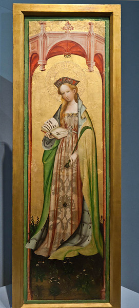 Münster, WLM, Conrad von Soest: hl. Odila (um 1460)