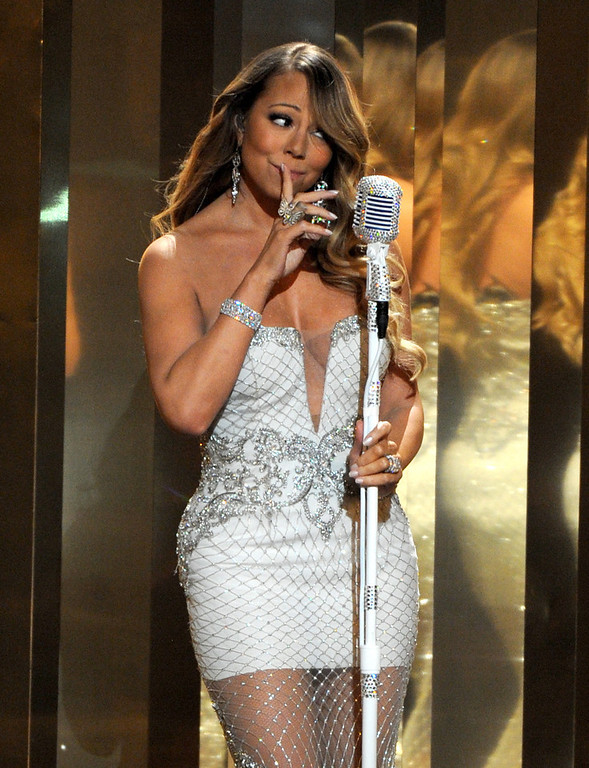 . Mariah Carey performs onstage at the BET Awards at the Nokia Theatre on Sunday, June 30, 2013, in Los Angeles. (Photo by Frank Micelotta/Invision/AP)