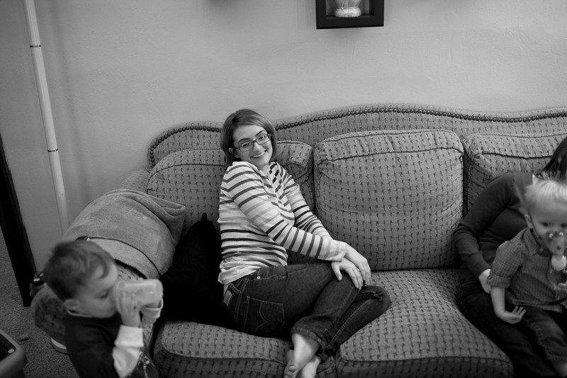 A family photo shoot with the Haas and Grabiec family in Mattoon, Illinois on Sunday, December 5, 2010.