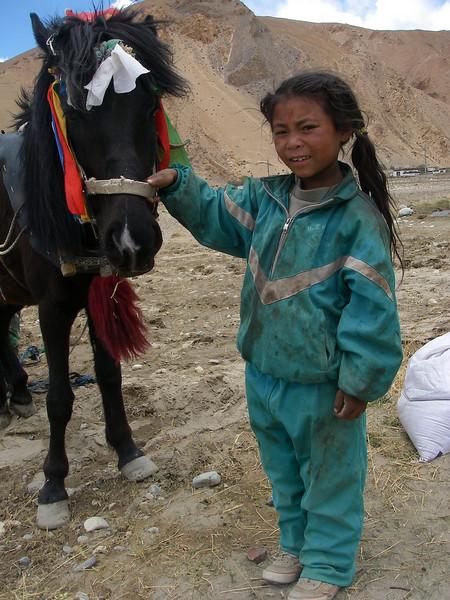 Girl from Tashi Zong (4.185m = 13,730ft) 1