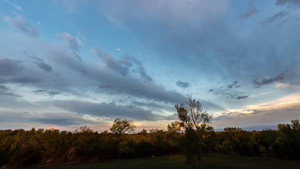 Sunset from the deck of my house. October 1, 2012, 6-7:30 PM.