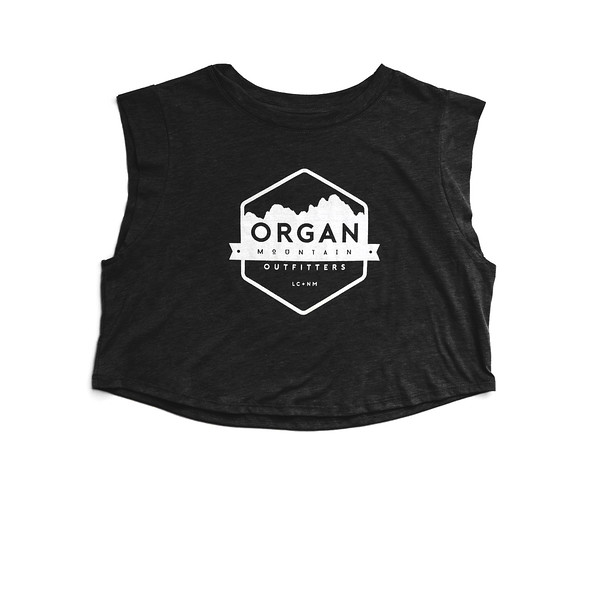 Organ Mountain Outfitters - Outdoor Apparel - Womens - Classic Festival Cropped Tank - Black.jpg