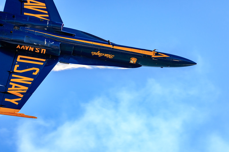 Blue Angels #5 Power Slide directly overhead
