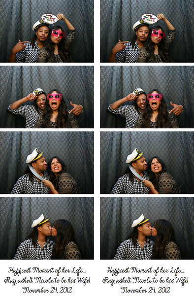 Ray & Nicole's Engagement Party Photo Strips 11.24.12